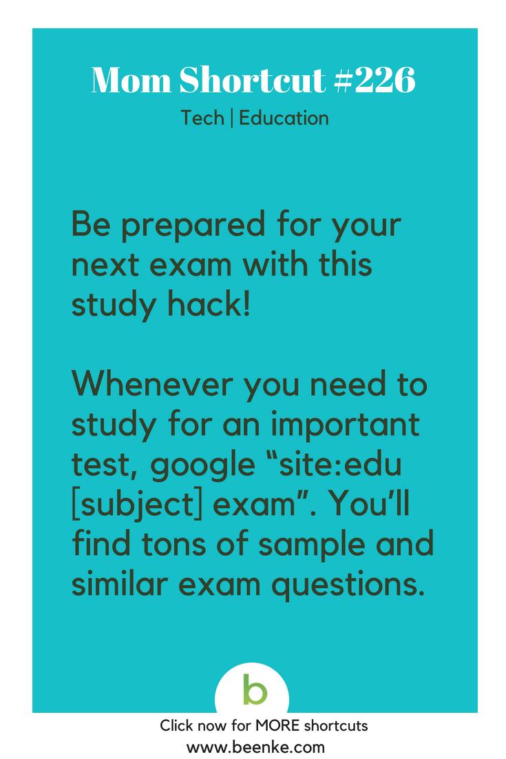 study hacks