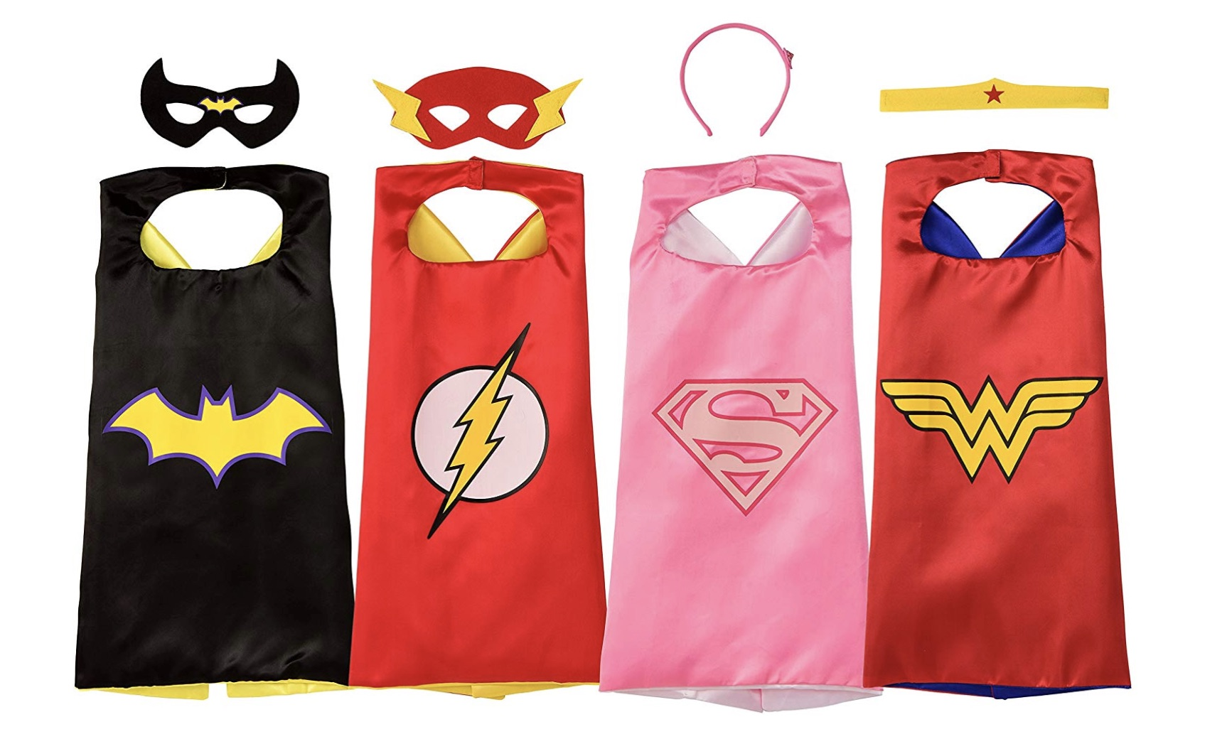 female superhero toys capes and masks
