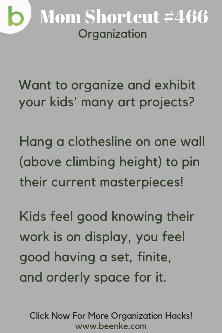Organizing tips for kids artwork
