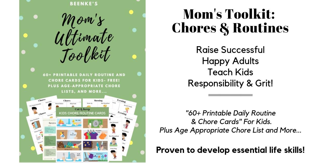 Printable Chore Charts For Kids!