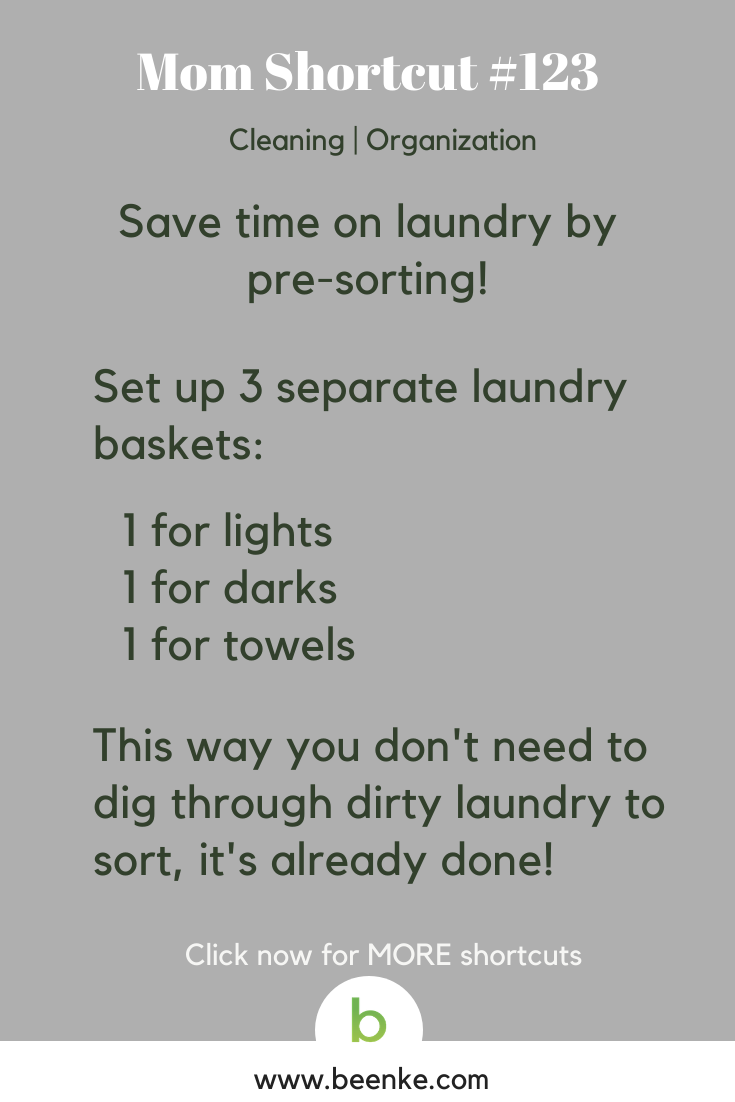 laundry basket organization hack
